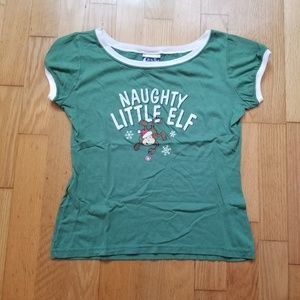 """In Your Dreams """"Naughty Little Elf"""" Shirt"""